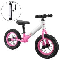 AODI 12 Inch Sport Balance Bike, Pro Lightweight No-Pedal Toddlers Bike Walking Bicycle Ultra-Cool Push Bikes/Air-Filled Rubber Tires for Kids Ages 18 Months to 6 Years