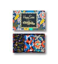 Happy Socks, Colorful Premium Cotton Celebrity Themed Socks for Men and Women, Wiz Khalifa Box Set, 9-11