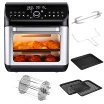 IKICH 10+7-in-1 Air Fryer Oven Combo 12QT 1500W, w/Digital LED Display & 6 Accessories & Recipes, Convection Oven Toaster Dehydrator & Rotisserie