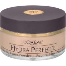 L'Oreal Paris Hydra Perfecte Perfecting Loose Face Powder, Minimizes Pores & Perfects Skin, Sets Makeup, Long-lasting and Lightweight, with Moisturizers to Nourish & Protect Skin, Light, 0.5 fl. oz.
