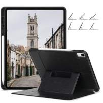 Ztotop Case for iPad Pro 12.9 Inch 2018(3rd Gen), Soft TPU Back Cover and Strong Magnetic Stand Folio Case [Support 2nd Gen Pencil Charging] with Auto Wake/Sleep and Multiple Viewing Angles,Black