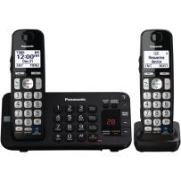Panasonic KX-TGE242B DECT 6.0 Expandable Digital Cordless Answering System, 2 Handsets
