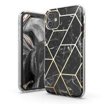 TiTiShark Marble Series Case for iPhone 11 Case, Slim Thin Glossy Soft TPU Rubber Gel Phone Case Cover Compatible iPhone 11 6.1Inch 2019 Release-Black