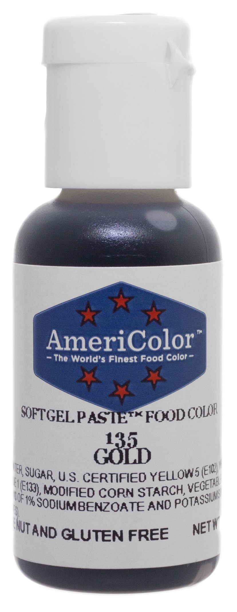 AmeriColor Soft Gel Paste - Gold Food Coloring, .75 Ounce