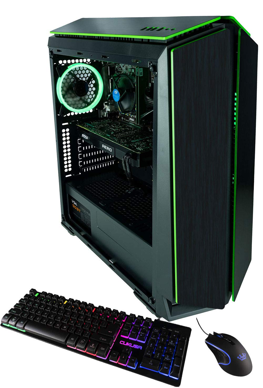 CUK Mantis Custom Gaming PC (Intel i7-9700F, 16GB DDR4 RAM, 512GB NVMe SSD, NVIDIA GeForce GTX 1660 Super 6GB, 500W PSU, No OS) The Best New Tower Desktop Computer for Gamers