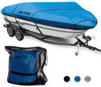 Leader Accessories 300D Polyester 5 Colors Trailerable Runabout Boat Cover Fit V-Hull Tri-Hull Fishing Ski Pro-Style Bass Boats, Full Size