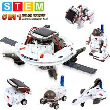 HOMOFY [2020 New Upgrade STEM Toys 6-in-1 Solar Robot Kit Learning Science Building Toys Educational Science Kits Powered by Solar Robot for Kids 8 9 10-12 Year Old Boys Girls Gifts