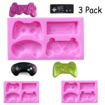 Game Controller candy Molds Silicone Video Game Controller Mold Gamepad Fondant Mold for Chocolate, Resin, Clay
