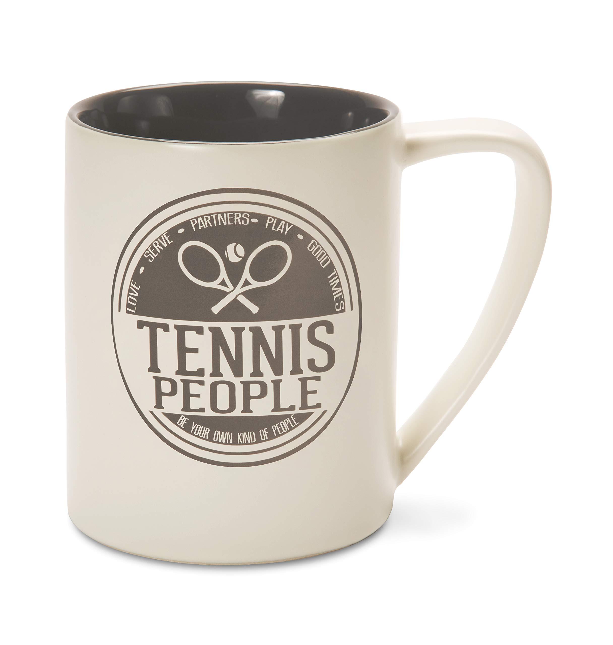 Pavilion Gift Company 67355 Tennis Coffee Mugs, Gray