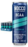 NOCCO BCAA Caribbean 12 x 12 Fl Oz Carbonated, ZERO Sugar, Low Calorie, Ready to drink BCAA energy drink from fitness oriented No Carbs Company, Vitamin and Caffeine Flavored Carbonated Drinks