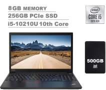 "2020 Lenovo ThinkPad E15 15.6"" FHD Full HD (1920x1080) Business Laptop (Intel 10th Quad Core i5-10210U, 8GB DDR4 RAM, 256GB PCIe SSD) Type-C, HDMI, Windows 10 Pro + IST Computers 500GB"