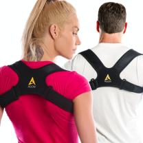 Agon® Posture Corrector Clavicle Brace Support Strap, Posture Brace Medical Device to Improve Bad Posture, Thoracic Kyphosis, Shoulder Alignment Upper Back Pain Relief for Men and Women