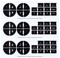 AC Dash Button Repair Kit (Pack of 3) - Best for Fixing Worn - Damaged A/C Control Buttons - Decal Replacement Fits 07-14 GM Vehicles - Car SUV Van Truck Accessories - Premium Design & Made in USA