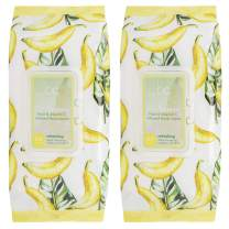 Beauty Concepts - 2 Pack (60 Count Each) Go Bananas Fruit & Vitamin C Infused Facial Wipes