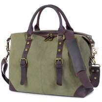 OCCIENTEC Small Canvas Messenger Bag Vintage Briefcase Laptop Shoulder Bag Travel Handbag
