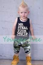 Kids Toddler Infant Baby Boys Shorts Outfits Set Letter Vest T-Shirt + Camouflage Short Pants Summer Clothes Set