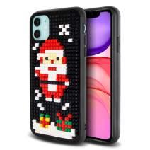 Olixar for iPhone 11 Christmas Case - Santa Clause - Mini Blocks Hard Cover Christmas Stocking Filler and Secret Santa Present - Black