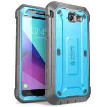 SUPCASE Unicorn Beetle Pro Series Case Designed for Samsung Galaxy J7 2017, Full-Body Rugged Holster with Built-in Screen Protector for Galaxy Halo/J7 2017 (SM-J727), Not Fit J7 2018 (SM-J737) (Blue)