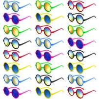 Kids Sunglasses Party Favors, 24Pack Neon Sunglasses with UV 400 Protected in Bulk for Kids, Boys and Girls, Summer Beach Pool Party Toys, Goody Bag Stuffers, Great Gift for Birthday & Graduation Party Supplies