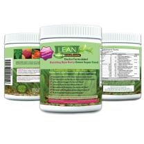 Lean Nutraceuticals Greens Powder - Green Superfood Doctor Formulated Wheat Grass Spirulina Chlorella with 24 Raw Orac Green Powder Immunity Boosting, Detox, Alkalizing 240g 30 Servings