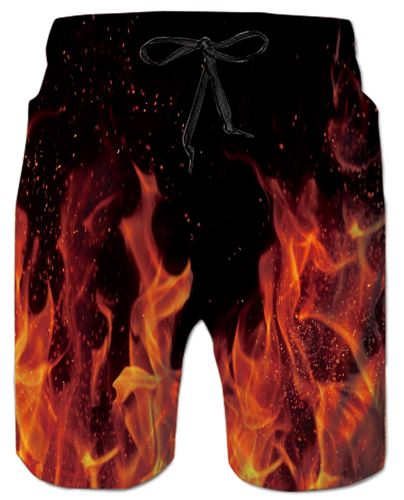 Ahegao Men's Swim Trunks Quick Dry 3D Printed Beach Board Shorts with Pockets Cool Mesh Lining Bathing Suits