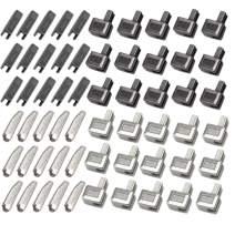 DmHirmg 30pcs Zipper Repair Kit Zipper Replacement Pack Zip #5 Metal Zipper Stops Latch Slider Retainer Insertion Pin Zipper Bottom Zipper Stopper for Metal Zipper Repair (30 Sets)