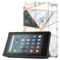 Famavala Shell Case Cover Compatible with All-New Fire 7 Tablet [9th Generation, 2019 Release] (MarbleMix)