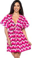 LA LEELA Women's Boho Swimsuit Bikini Beach Cover Ups for Swimwear Short Mini B