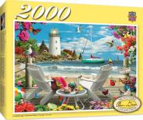MasterPieces Signature Series, Jigsaw Puzzle, Coastal Escape, Featuring Art by Alan Giana, 2000 Pieces