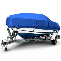 "Budge B-600-X8 600 Denier V-Hull Runabout Boat Cover Blue 24' - 26' Long, 106"" Beam Width Waterproof, UV Resistant"