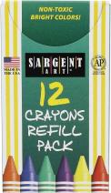 Sargent Art 22-0890 12-Count Tuck Box Standard Size Crayon Refill, Burnt Sienna