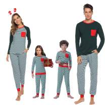 Abollria Matching Family Cotton Striped Pajamas Set Sleepwear PJS Set for Women/Men/Boys/Girls