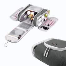 BUBM Toiletry Bag for Women 2019 New Detachable Hanging Toiletry Travel Bag Heavy Duty Travel Bag with Sturdy Hook (gray)