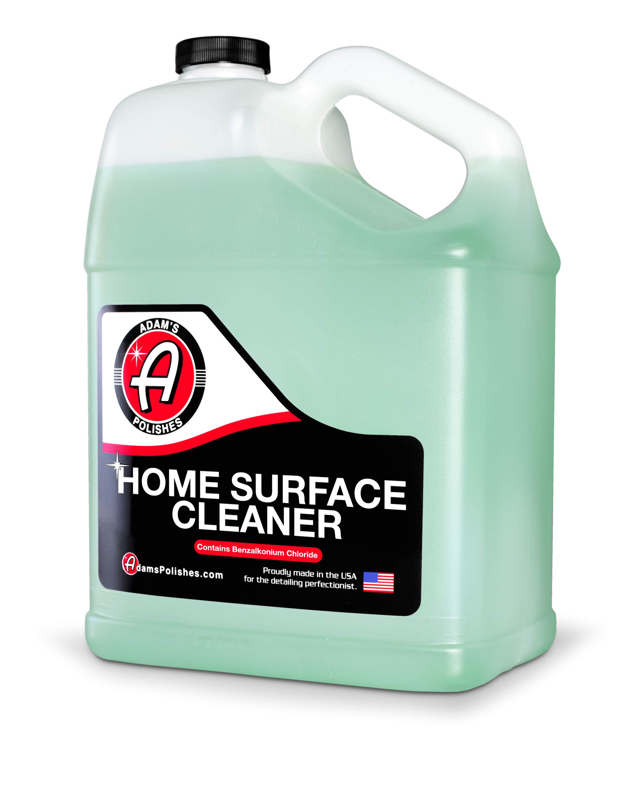 Adam's Home Surface Cleaner - Quickly, Safely Remove & Clean In Home Surfaces   Removes Odors, Non-Bleaching Formula For Your Kitchen, Bathroom, Floor & More   Contains Benzalkonium Chloride (Gallon)