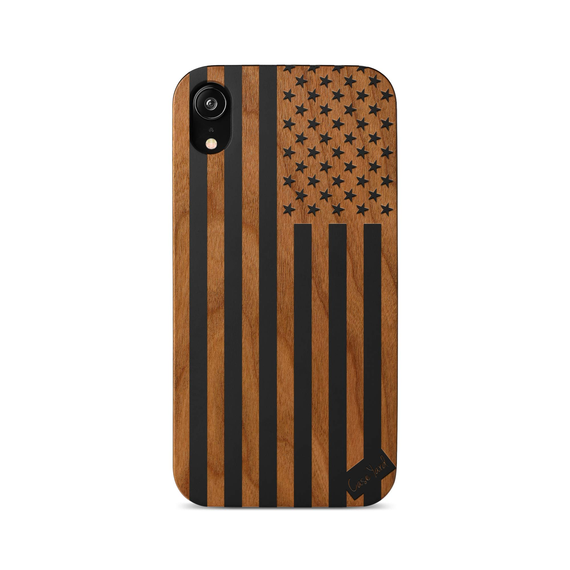 iPhone 11 Pro Case by Case Yard Fit for iPhone 11 Pro 5.8-Inch [ 2019 Release ] Shock-Absorption iPhone 11 Pro Phone Cover Wood Black iPhone 11 Pro Cases American Flag