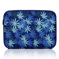 Arvok Water-Resistant Neoprene Laptop Sleeve Case Bag/Notebook Computer Case/Briefcase Carrying Bag/Pouch Skin Cover (15 inch, Dark Blue Maple Leaf)