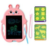 GJZZ Drawing Board Gifts for Kids, Doodle Board Writing Painting Pad Educational Birthday Gifts as Boys Age 3 4 5 6 7 8 - Pink Rabbit