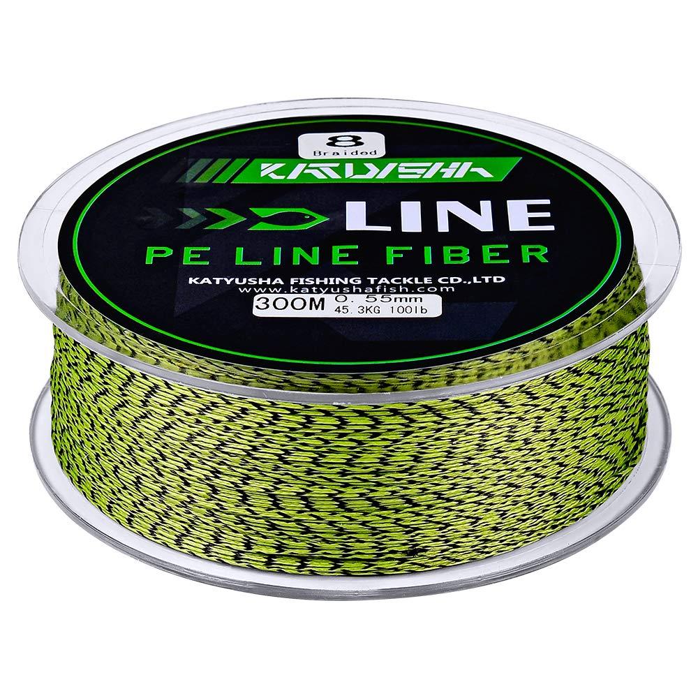 KATUYSHA Braided Fishing Line, Abrasion Resistant Zero Stretch Braided Lines 4/8 Strands Super Strong Superline 6Lb -100Lb Test 109/328/547/1094/2187 Yards