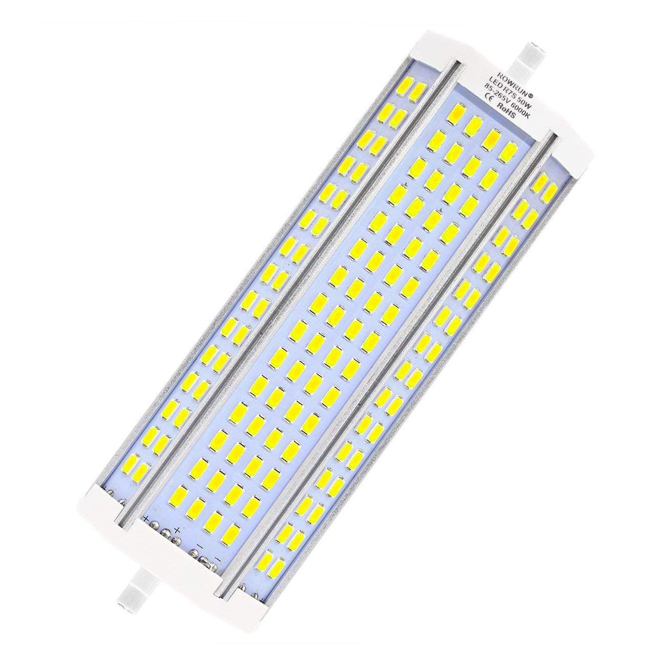 R7S LED 189mm 50W Non Dimmable Daylight White 6000K Type J Light Bulb J189 500W Double Ended Halogen Bulb Replacement 4700LM AC85-265V by Rowrun