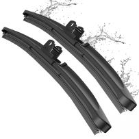 "Wiper Blade, METO T6 28"" + 14"" Windshield Wiper : Water Repellency Polymer Materials Silence Blade, Up to 60% Longer Life, for All Season even Clean Ice & Snow in Winter(Set of 2)"