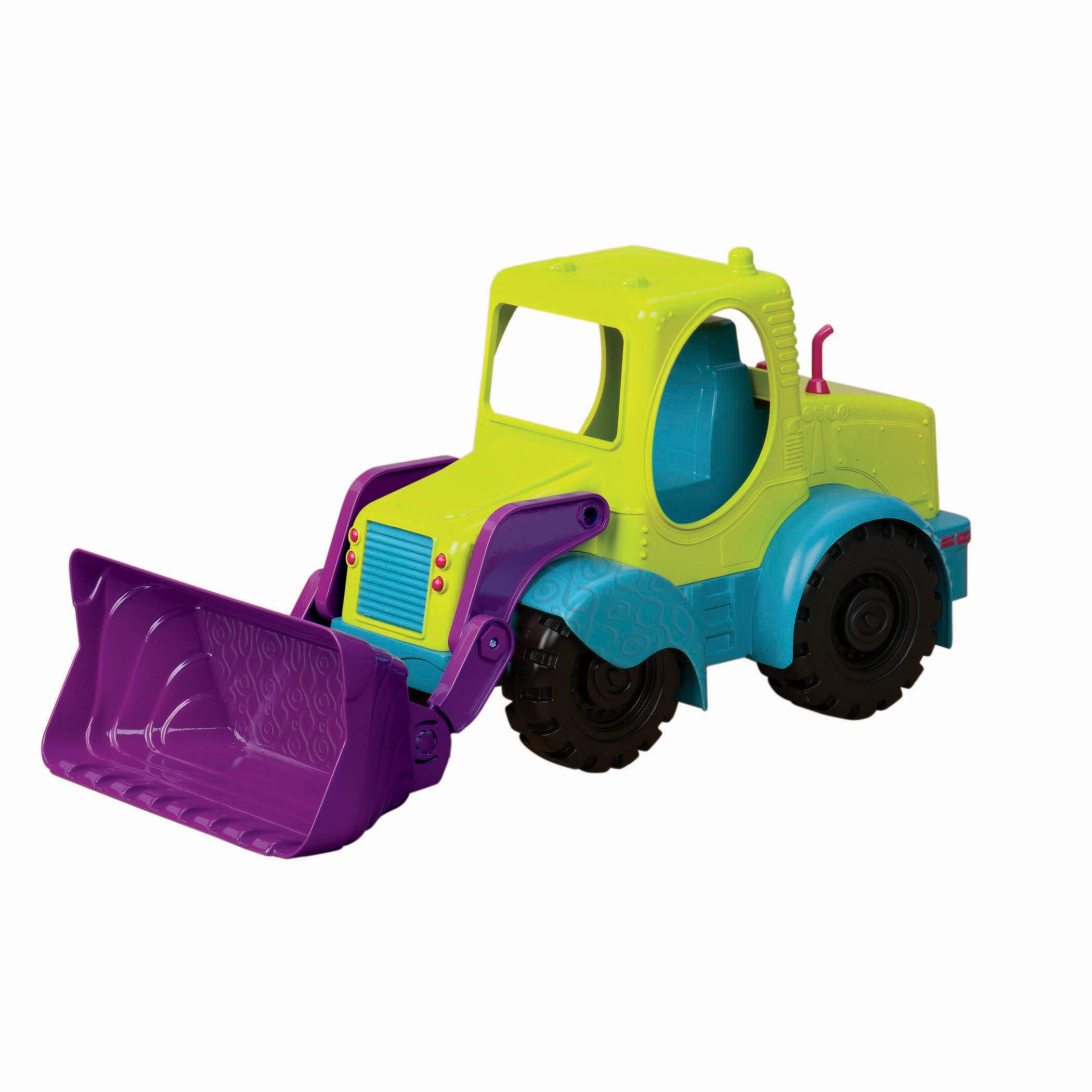 """B. toys by Battat Loadie Loader 18"""" Sand Truck – Excavator Toy Truck for Toddlers 18 M+, BX1416Z"""