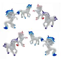 12 Pack - Vinyl Small Unicorn Animal Figurine - Unicorn Toy Figure Party Favors for Kids