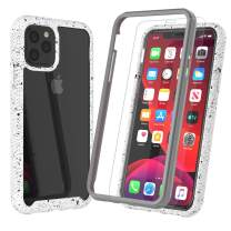 "Njjex Case For iPhone 11 Pro MAX, For iPhone 11 Pro Max Case 6.5"" W/[Tempered Glass Screen Protector], [Npatt] Hybrid Impact Clear Back Soft TPU Bumper Armor Rugged Shockproof Slim Phone Cover [White]"