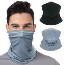CUIMEI Summer Neck Gaiter Face Cover Mask/Face Scarf/Cool Bandanas Sun UV Dust