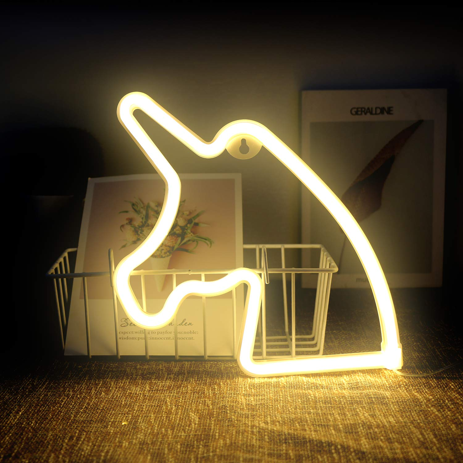 Neon Unicorn Signs Led Neon Signs For Wall Decor Led Safety Art Wall Decoration Lights Neon Lights Night Table Lamp With Battery Powered Usb For Kids Gift Home Wedding Baby Room