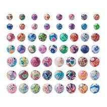Craftdady 200Pcs 8-12mm Colorful Handmade Polymer Clay Round Ball Spacer Loose Beads for DIY Jewelry Necklace Bracelet Earring Craft Making