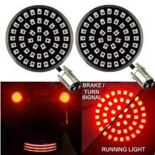 Eagle Lights Generation II Midnight Edition Rear 1157 2 Inch LED Turn Signals for Harley Davidson