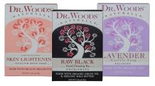 Dr. Woods Natural Castile Bar Soaps Variety 3 Pack - Black Exfoliating Facial Cleansing Bar, Rose Skin Lightening, Relaxing Lavender, All Made with Organic Shea Butter, 5.25 Ounce (1 of Each)