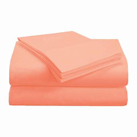 Superior 1500 Series Premium Quality 100% Brushed Soft Microfiber 4-Piece Luxury Deep Pocket Cooling Bed Sheet Set, Hypoallergenic, Wrinkle and Stain Resistant - King, Coral