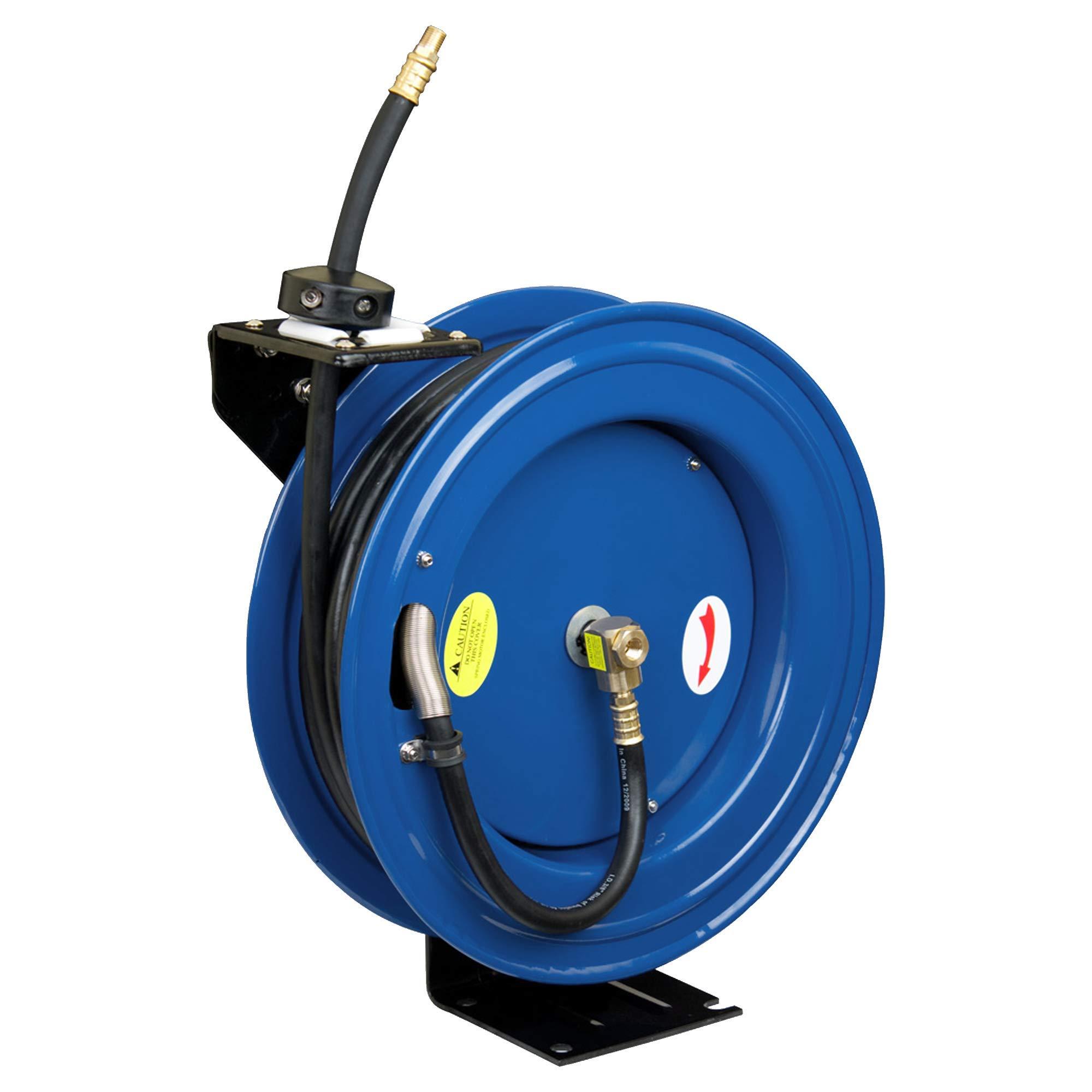 Cyclone Pneumatic CP3690 Retracable Air Hose Reel, Blue